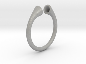Gramaphonic Ring, US size 8,5 d= 18mm. Place M in Aluminum: 8.5 / 58