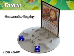 Commander Display Rakdos in White Natural Versatile Plastic: Small