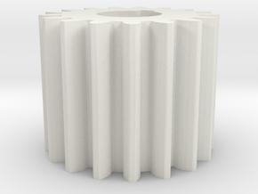 Cylindrical gear Mn=1 Z=17 AP20° Beta0° b=15 HoleØ in White Natural Versatile Plastic