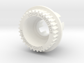 LHB 10mm 33T Wheel Pulley For ABEC Flywheels in White Processed Versatile Plastic