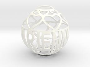 Darienne Lovaball in White Processed Versatile Plastic