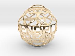 BenDeLaCreme Lovaball in 14k Gold Plated Brass