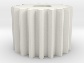Cylindrical gear Mn=1 Z=19 AP20° Beta0° b=15 HoleØ in White Natural Versatile Plastic