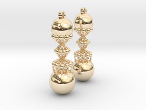 Exclusiv Spiral Earring Model K in 14k Gold Plated Brass