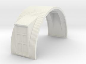 N-76-complete-nissen-hut-mid-16-two-door-1a in White Natural Versatile Plastic