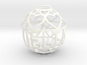 Delta Lovaball in White Processed Versatile Plastic