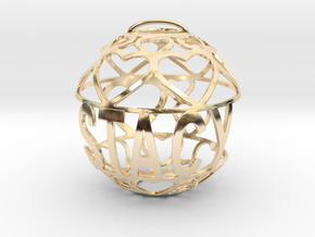 Stacy Lovaball in 14k Gold Plated Brass