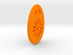 Earring Model M in Orange Processed Versatile Plastic