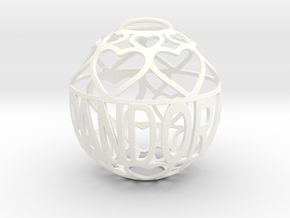 Pandora Lovaball in White Processed Versatile Plastic