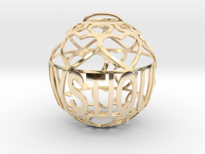 Mystique Lovaball in 14k Gold Plated Brass