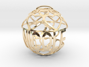 Nicole Lovaball in 14k Gold Plated Brass