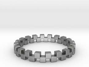 Cuboid Ring, US size 12.5, d=21.8mm(all sizes on d in Natural Silver: 12.5 / 67.75