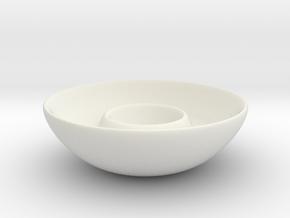 Dipping Dish in White Natural Versatile Plastic