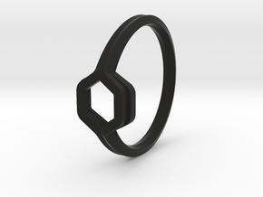Honey Duo, Ring US size 8, d=18,2mm  in Black Natural Versatile Plastic: 8 / 56.75