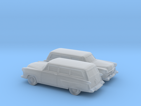 1/160 2X 1952 Ford Crestline Ranch Wagon in Frosted Ultra Detail