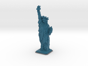 Statue of Liberty in Minecraft in Full Color Sandstone