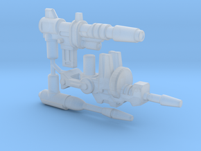 Titan Scout Arsenal, set of 3 Blasters (5mm) in Smooth Fine Detail Plastic