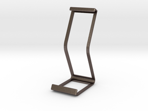 Ipad Stand V2 material saver in Polished Bronzed Silver Steel