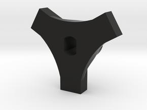 Cheater Locker Front Plate V2 in Black Natural Versatile Plastic