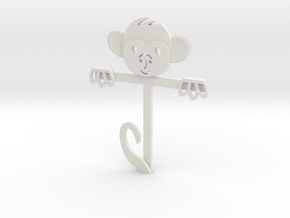 Monkey Gift Card Holder in White Natural Versatile Plastic