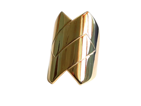 Embrace ring in Polished Brass: 8 / 56.75