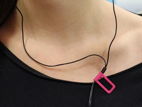 Shirt cable clip for headphone in Pink Strong & Flexible Polished
