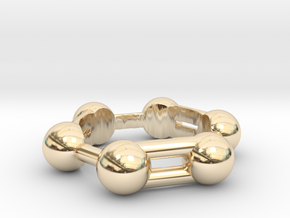 Benzene Ring Molecule in 14K Yellow Gold: 6.5 / 52.75