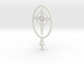 St Francis Cathedral Cross   in White Natural Versatile Plastic