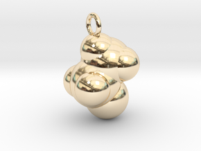 Ethanol CPK With Ring in 14k Gold Plated Brass