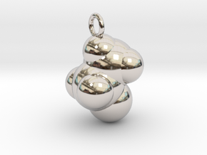 Ethanol CPK With Ring in Rhodium Plated Brass