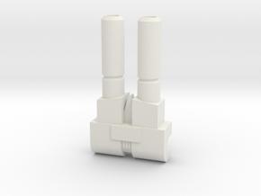 Mini Blaster inspired by Fortress Maximus' guns in White Natural Versatile Plastic