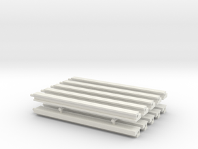 MOF Roof - Back(10) in White Natural Versatile Plastic