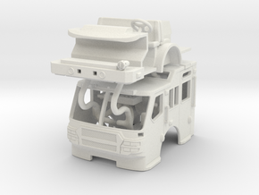 1/64 E-One Quest Raised Roof cab in White Natural Versatile Plastic