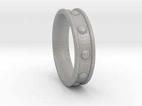 Studded Collar Ring in Aluminum