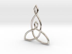 Mother And Child Knot Pendant in Platinum: Medium