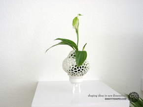 Mini Plant-Space-Rocket with Pot in White Strong & Flexible Polished