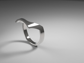 Static Ring - SIZE 8  in Polished Silver