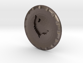 Golf Ball Marker House Stark in Polished Bronzed Silver Steel