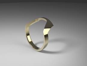 Static Ring - SIZE 7 in 14k Gold Plated Brass