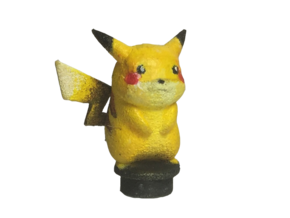 Custom Pikachu Inspired Lego in White Natural Versatile Plastic