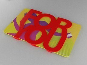 Gift Card Holder For You in Red Processed Versatile Plastic