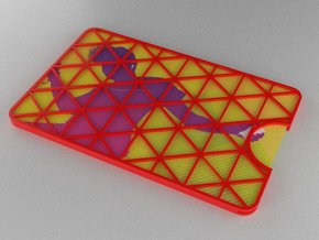 Gift Card Holder Triangles in Red Processed Versatile Plastic