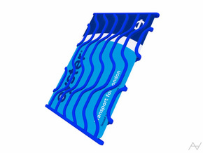 Dynamic Card Holder in Blue Strong & Flexible Polished
