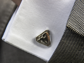 Europe Cufflinks in Polished Silver