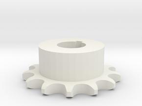 Pignone Per Catena Semplice ISO 04B-1 P6 Z13 in White Natural Versatile Plastic