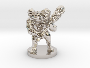 Toad Warrior for Dungeons and Dragons in Rhodium Plated Brass
