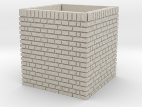 Cast Iron Water Tank Brick Pillar in Natural Sandstone: 1:32