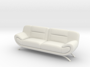 Sofa 1/18 001 in White Natural Versatile Plastic: 1:18