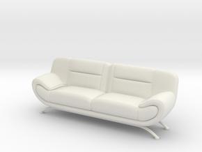 Sofa 1/18 001 in White Natural Versatile Plastic: 1:18