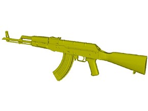 1/24 scale Avtomat Kalashnikova AK-47 rifle x 1 in Smooth Fine Detail Plastic